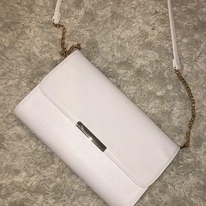 White shoulder cross body bag